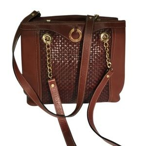 BALLY Authentic Brown Leather Shoulder Bag